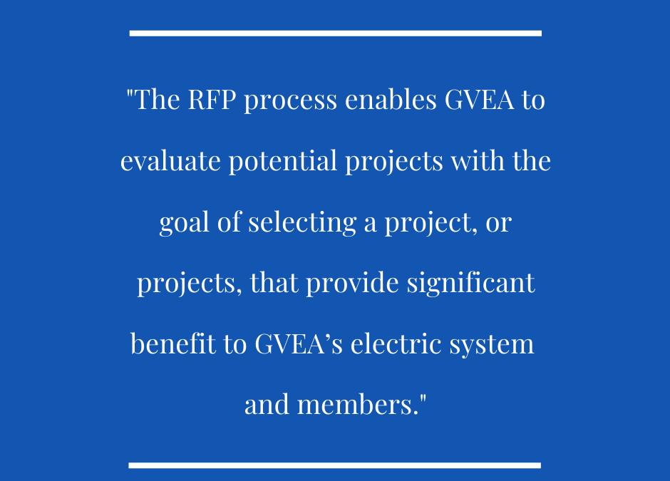 GVEA to Issue RFP for Renewable Energy